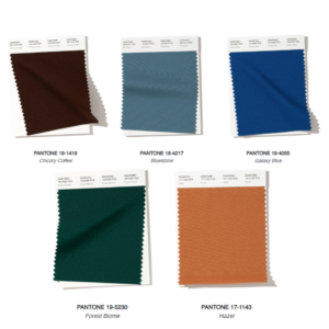 Tendenze autunno 2019 Pantone Blu Marrone e Verde
